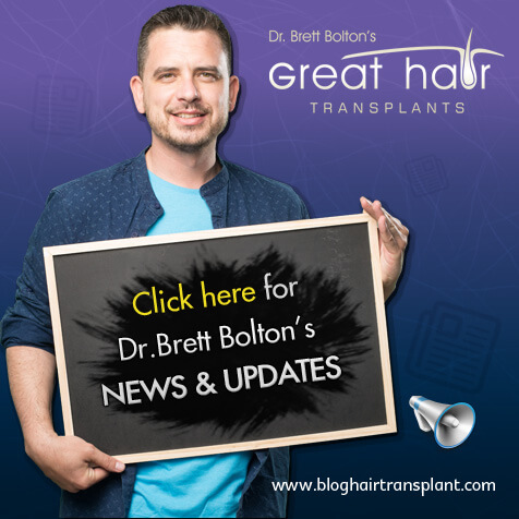 Dr Brett Bolton Hair Transplant Blog